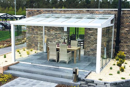 terrassen berdachung holz 6x4 m 600x400 cm wandanbau vsg 10 mm klar steda ebay. Black Bedroom Furniture Sets. Home Design Ideas