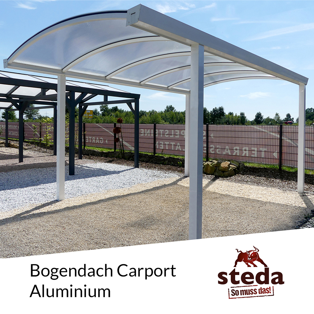 carport bogendach aluminium 3x5 m 300x500 cm doppelsteg 16 mm steda ebay. Black Bedroom Furniture Sets. Home Design Ideas