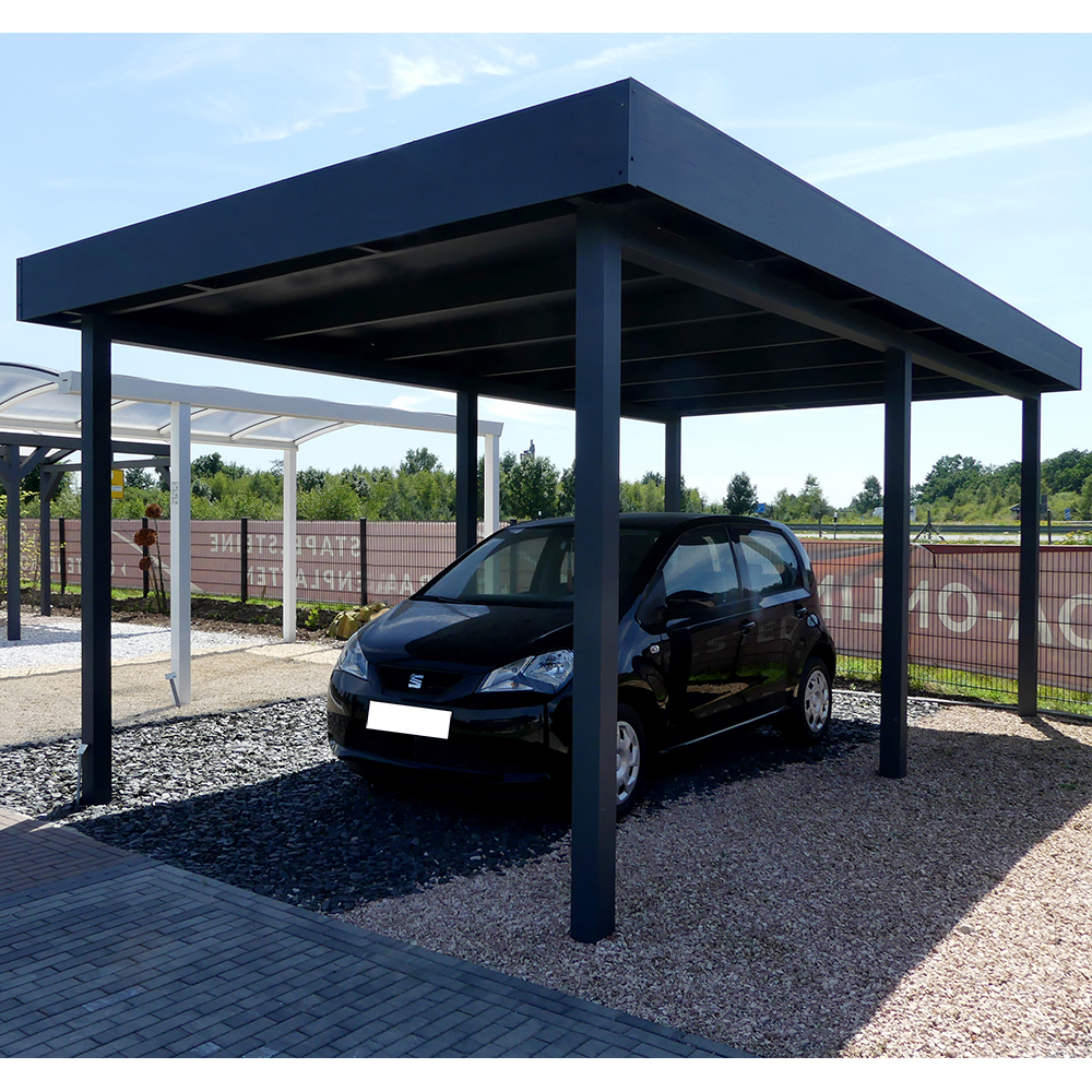Carport, Flachdach, Aluminium, 3,5x10,5 m, 350x1050 cm - steda | eBay