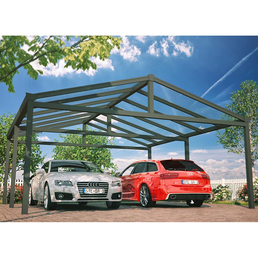 carport satteldach aluminium alle ma e steda ebay. Black Bedroom Furniture Sets. Home Design Ideas