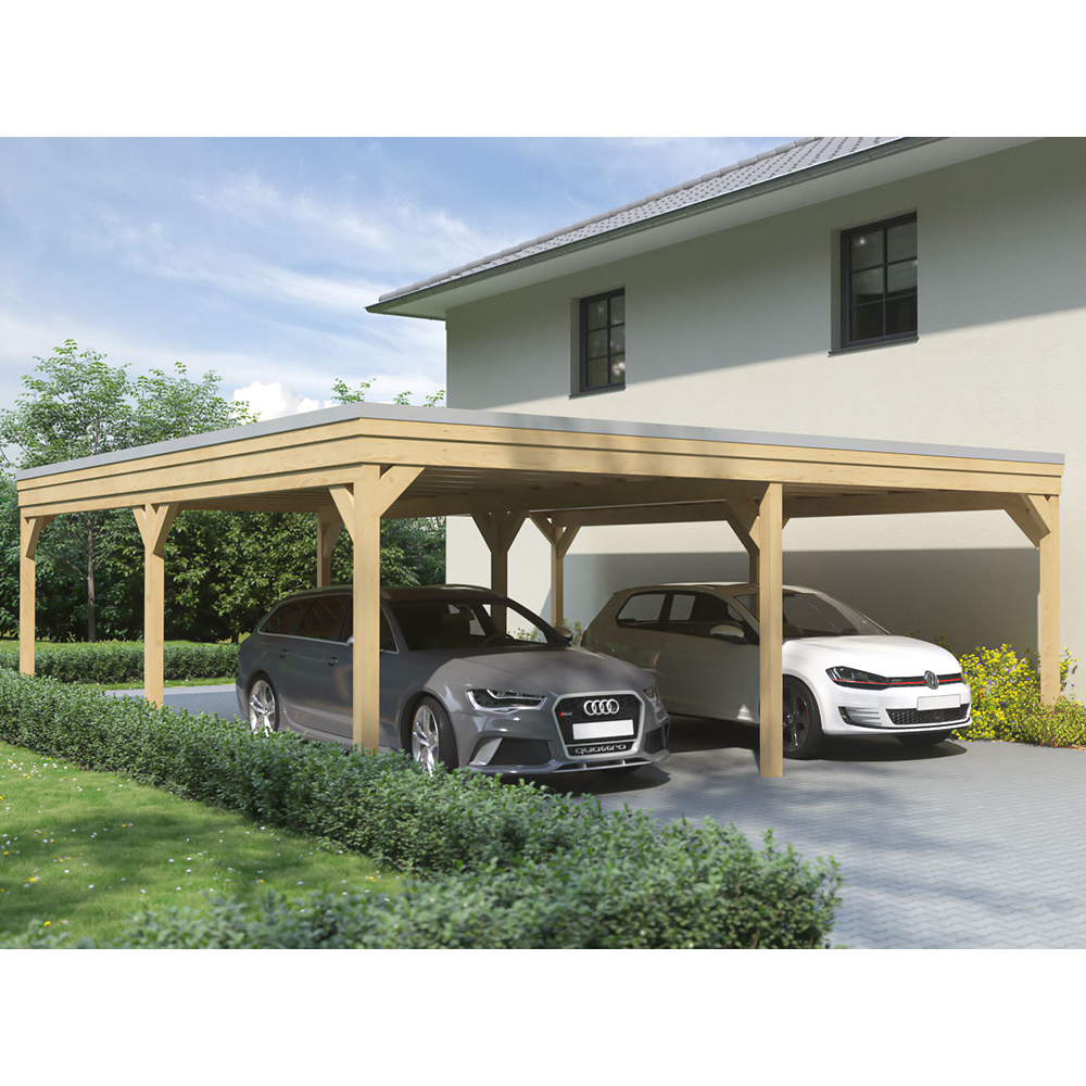 carport flachdach leimholz holz 7x5 m 700x500 cm steda ebay. Black Bedroom Furniture Sets. Home Design Ideas