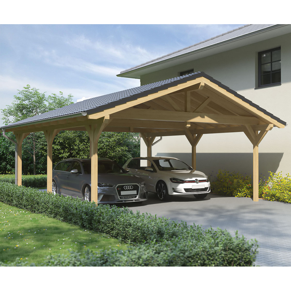 carport satteldach leimholz holz 6x8 m 600x800 cm steda ebay. Black Bedroom Furniture Sets. Home Design Ideas