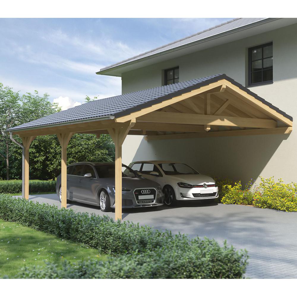 carport satteldach leimholz holz 6x9 m 600x900 cm steda ebay. Black Bedroom Furniture Sets. Home Design Ideas
