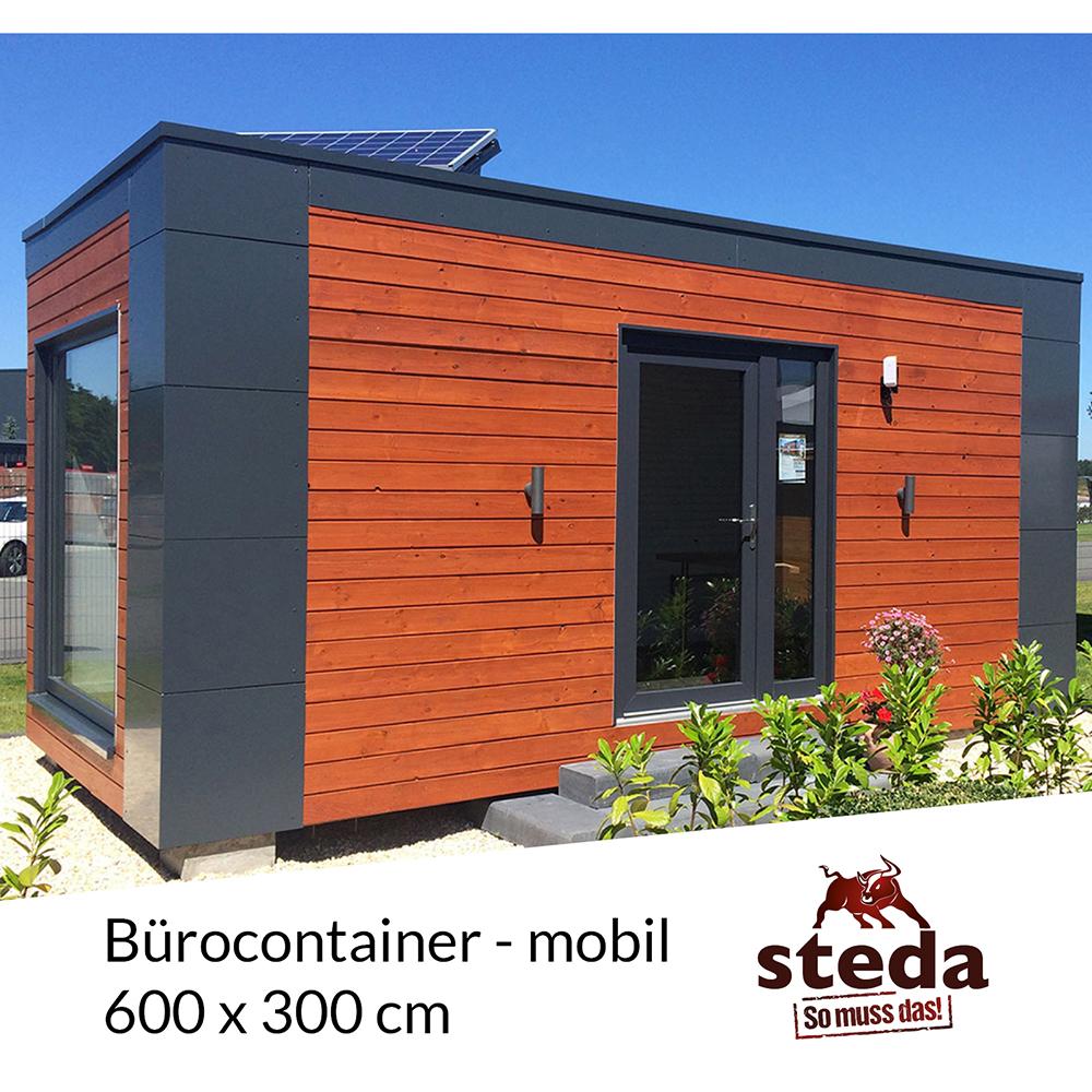 holzrahmenbau b rocontainer mobiles b ro 6x3 m 600x300 cm steda ebay. Black Bedroom Furniture Sets. Home Design Ideas