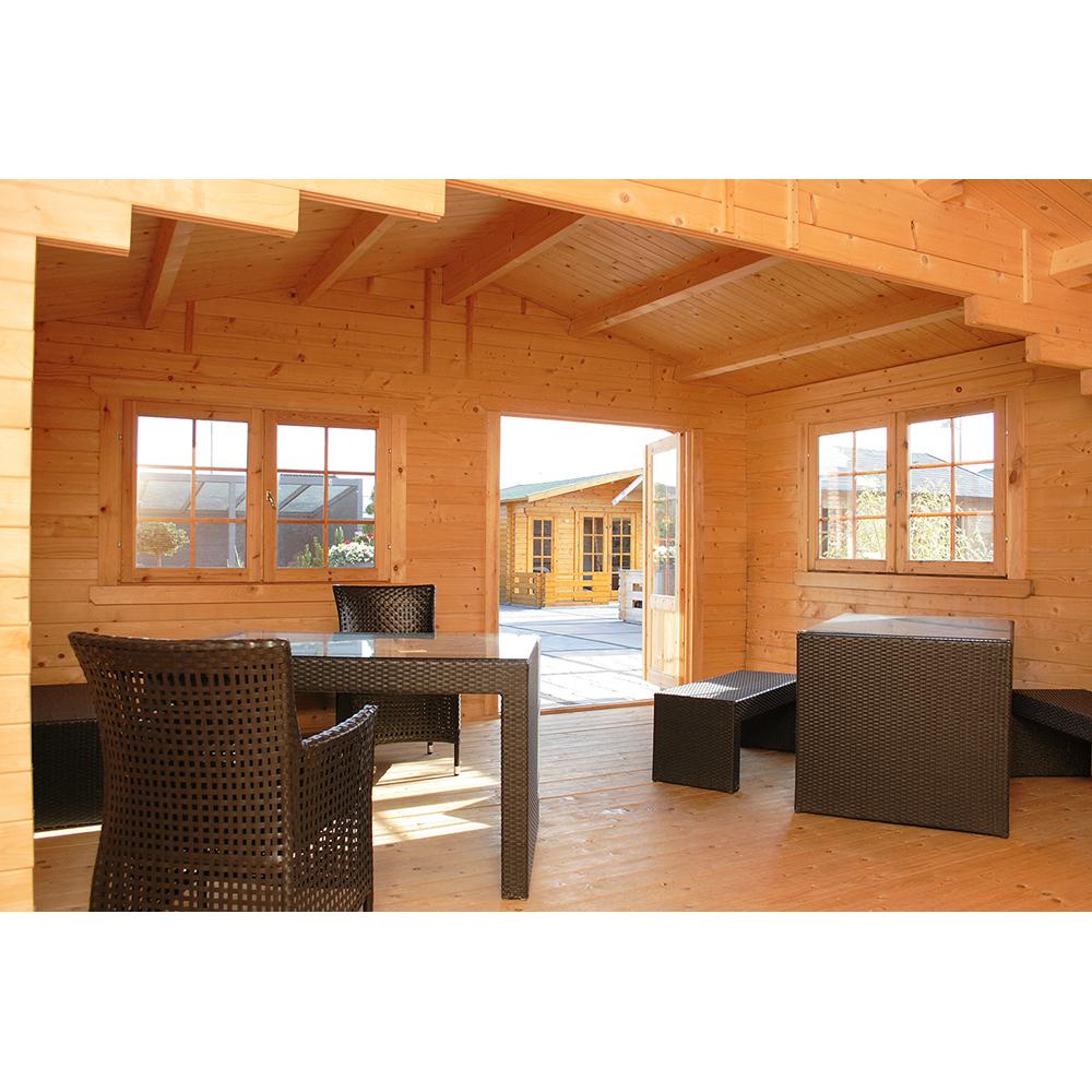 gartenhaus blockhaus saunahaus californien 5x6 m holz steda ebay. Black Bedroom Furniture Sets. Home Design Ideas