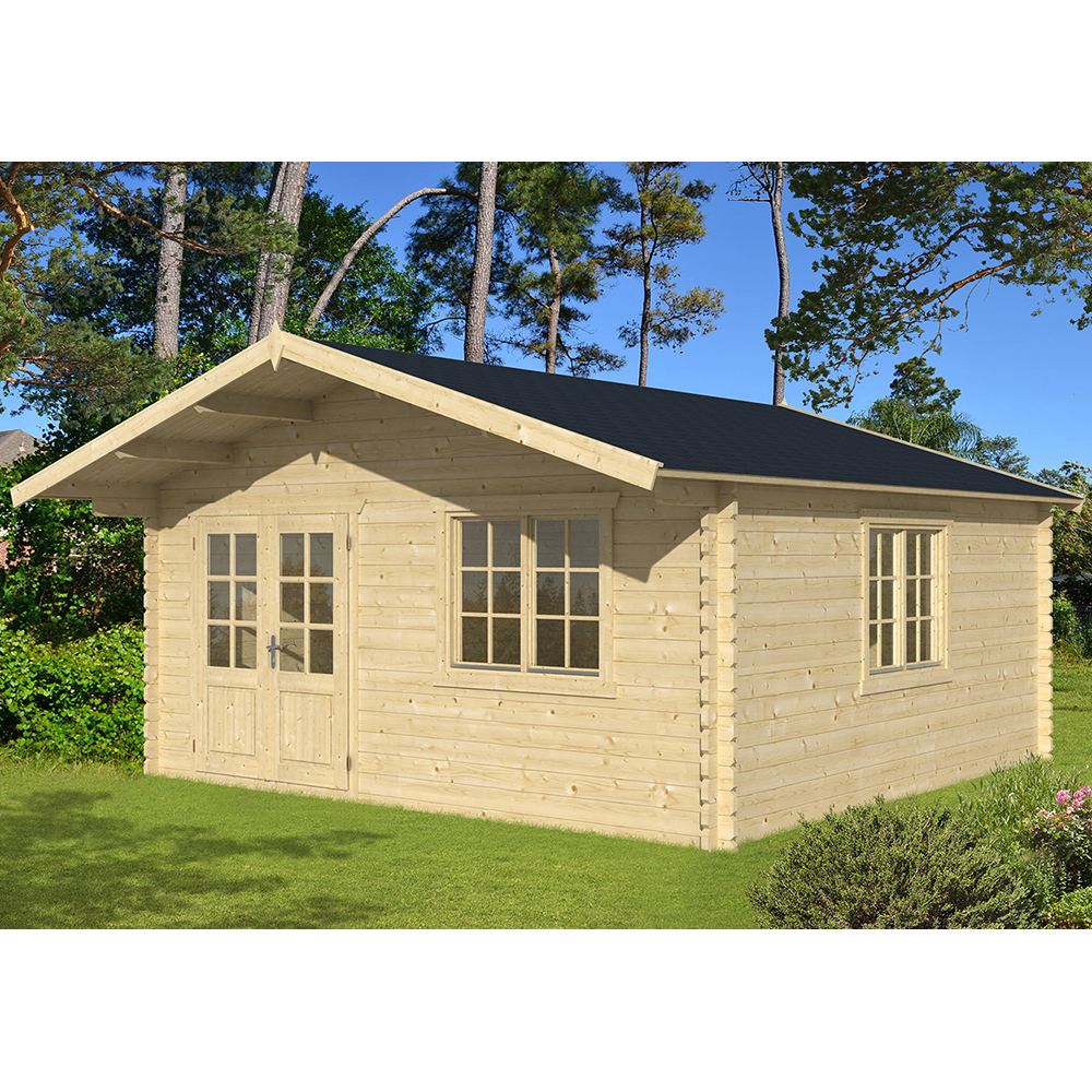 gartenhaus blockhaus hawaii 5x5 m holz steda ebay. Black Bedroom Furniture Sets. Home Design Ideas
