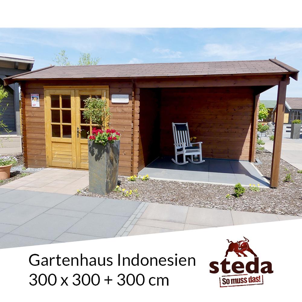 gartenhaus allzweckh tte indonesien 3x3 3 m holz steda ebay. Black Bedroom Furniture Sets. Home Design Ideas