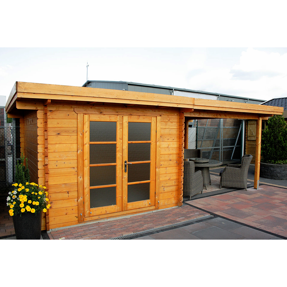 gartenhaus ger tehaus rhodos 3x3 5 3 m holz steda ebay. Black Bedroom Furniture Sets. Home Design Ideas