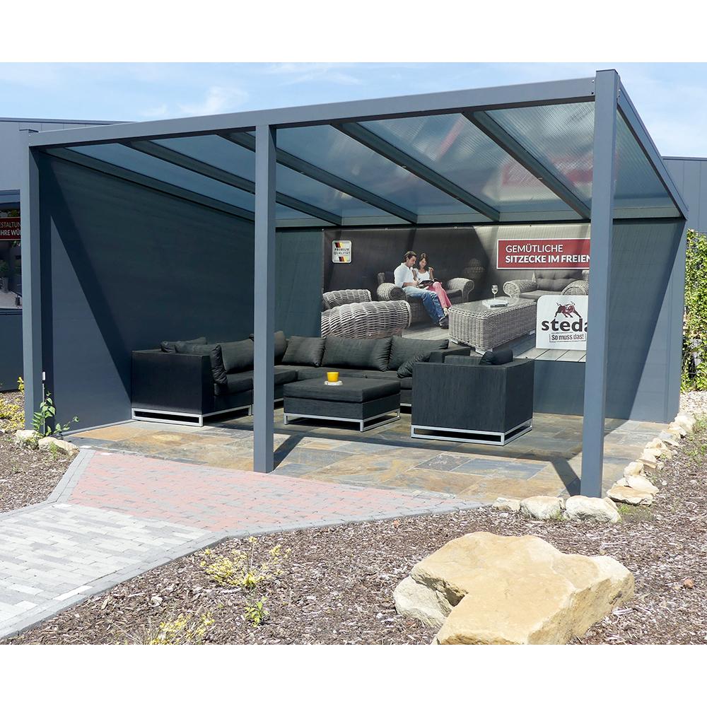 berdachung pergola alu 3x4m 300x400 cm doppelsteg freistehend steda ebay. Black Bedroom Furniture Sets. Home Design Ideas