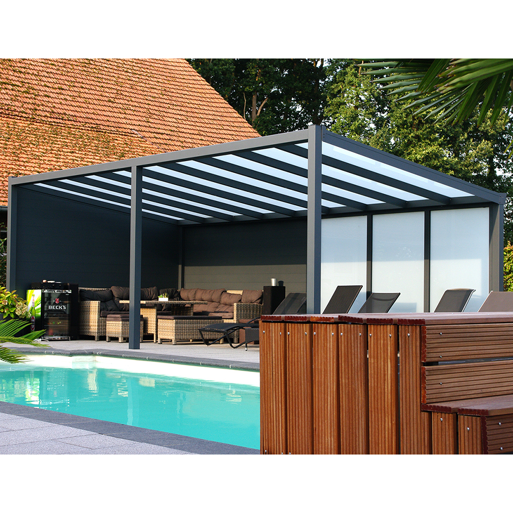 berdachung pergola alu 3x4m 300x400 cm doppelsteg freistehend steda ebay. Black Bedroom Furniture Sets. Home Design Ideas