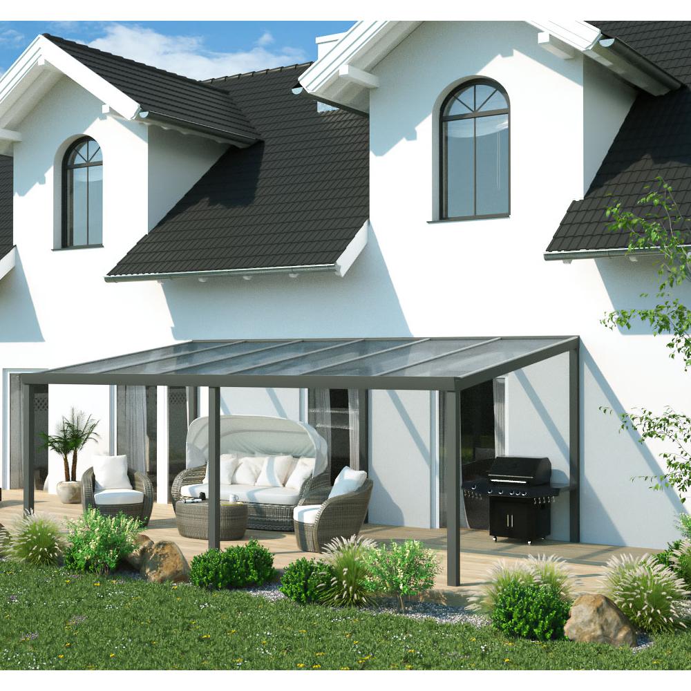 terrassen berdachung aluminium 6x3 m 600x300 cm. Black Bedroom Furniture Sets. Home Design Ideas