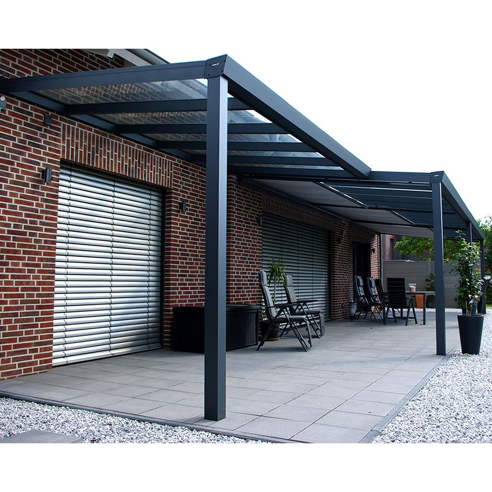 terrassen berdachung alu 6x4 m 600x400 cm doppelsteg. Black Bedroom Furniture Sets. Home Design Ideas