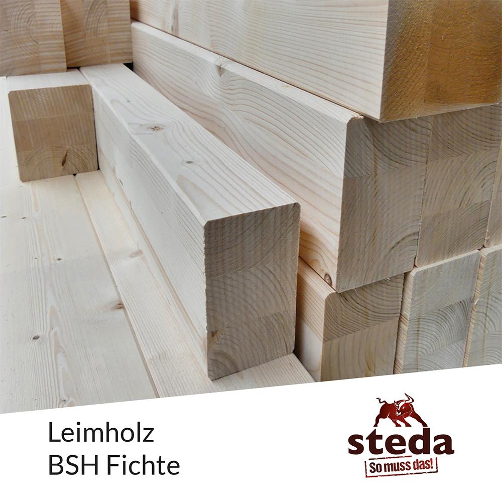 Leimholz, Leimbinder, BSH Fichte, 16x16,16x18,16x20,16x24,16x28 ...
